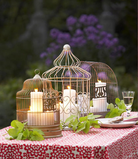 birdcage centerpiece - Outdoor Party Decorating Ideas