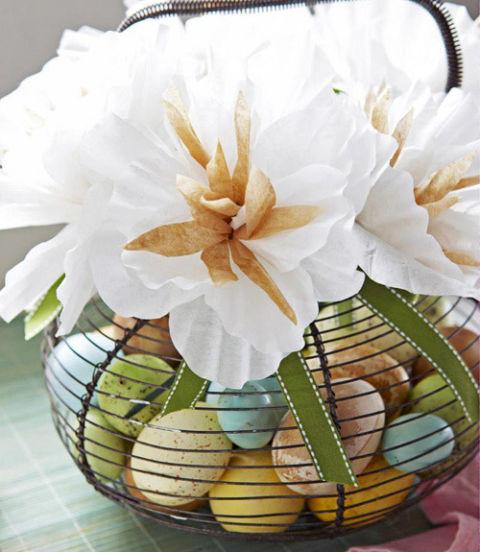 35 diy easter basket ideas unique homemade easter baskets good diy coffee filter flower easter basket negle Gallery