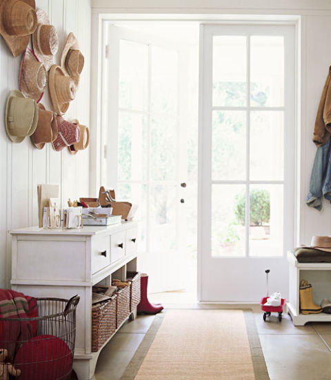 Entryway organization how to organize your entryway for Entryway into living room ideas