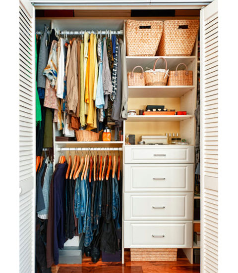 Closet storage storage solutions for Transform small closet space