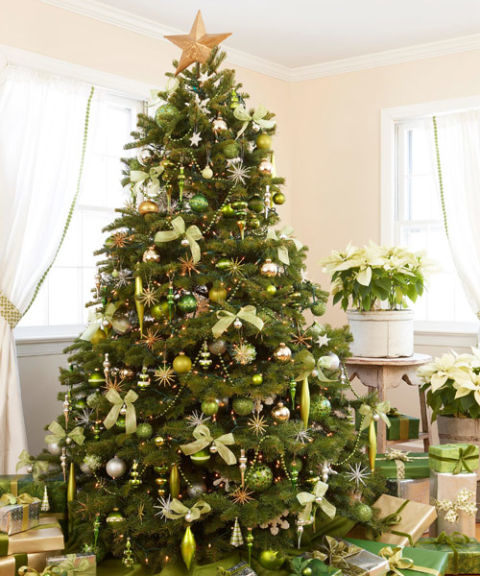 Green Christmas Decorations - Ideas for Lime Green Christmas ...