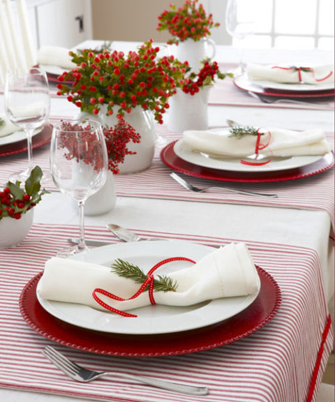 red and white christmas decorations - red christmas decorating ideas