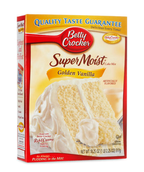 Box Yellow Cake Mix Calories