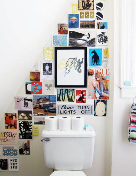 How To Hang Art unexpected places to hang art - decor that fills a blank wall