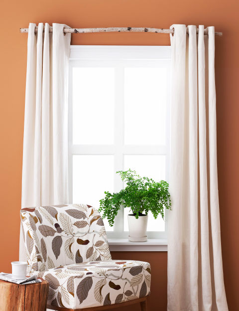 make your own organic curtain rod - Home Decor Craft Ideas