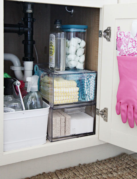 Use Clear Containers to Organize