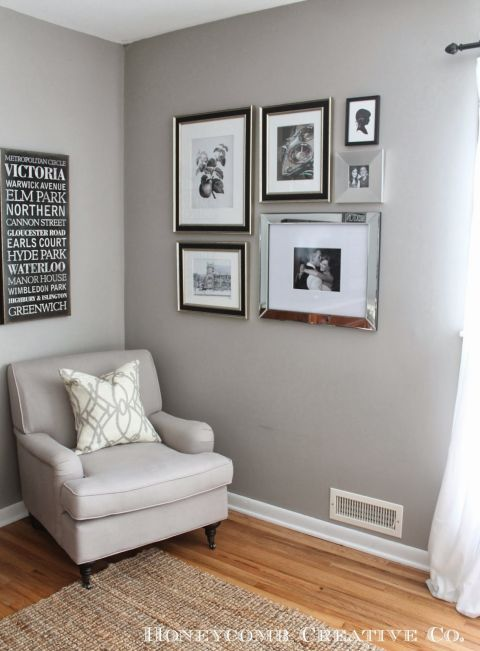use mirrored frames in a gallery wall