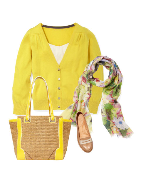 How to wear patterned pants what to wear with patterned for Boden yellow bag