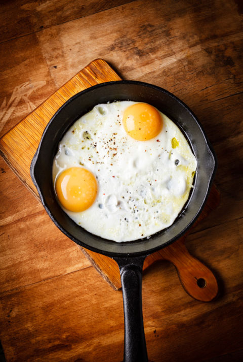 Eggs are a source of lutein, which helps keep skin hydrated and firm. It also promotes the natural oils that help keep you looking radiant, so feel free to start your day with a veggie omelet. Or, in place of higher-fat proteins, try adding it to sandwiches.