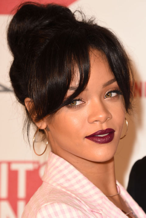 Excellent Black Hairstyles With Buns And Bangs Best Hairstyles 2017 Hairstyle Inspiration Daily Dogsangcom