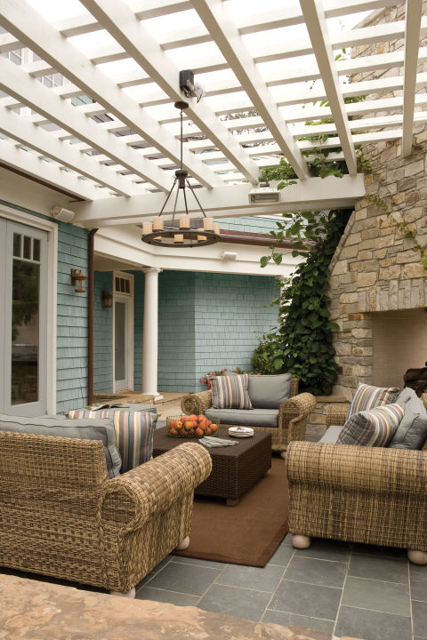 Patio design ideas porch styles Relaxed backyard deck ideas