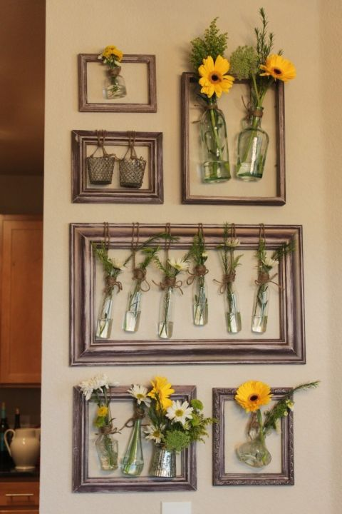 floral arrangement - Empty Picture Frame