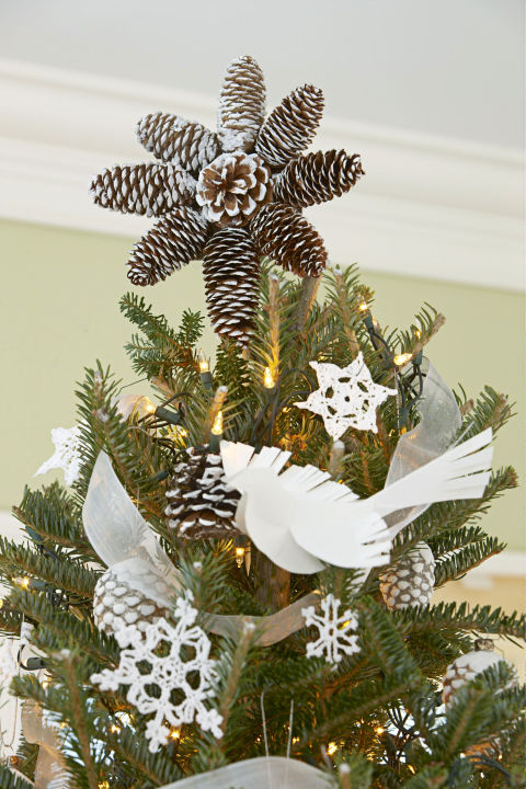 pinecone tree topper - Ideas For Christmas Trees