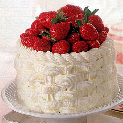 Strawberry Basket Cake Recipe — Dishmaps