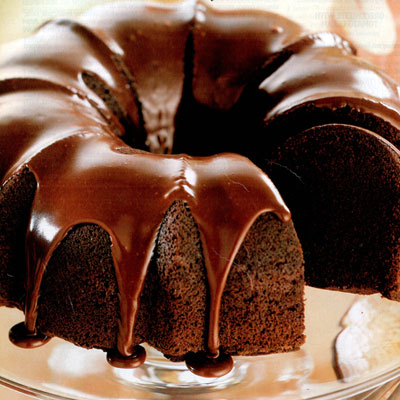 Chocolate Bundt Cake Decorating Ideas : Double Chocolate Bundt Cake
