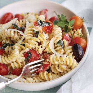 Pasta-Salat , Fussili Lachs