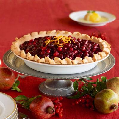 Cranberry-Almond Pie - Desserts - Holiday Recipes