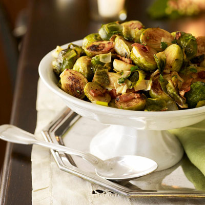 Brussels Sprouts with Leeks and Bacon Recipe