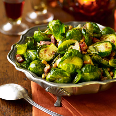 brussels sprouts with pancetta and rosemary - thanksgiving recipes