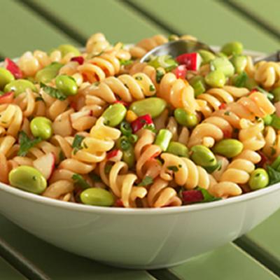 Sesame-Soy Edamame and Pasta Salad Recipe