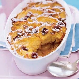 Apple Lemon Bread Pudding