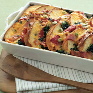 Strata Recipes ham and cheddar strata recipe