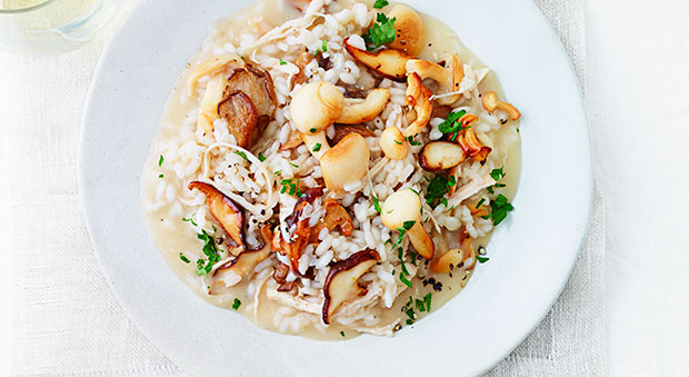 Turkey Mushroom Risotto Recipe