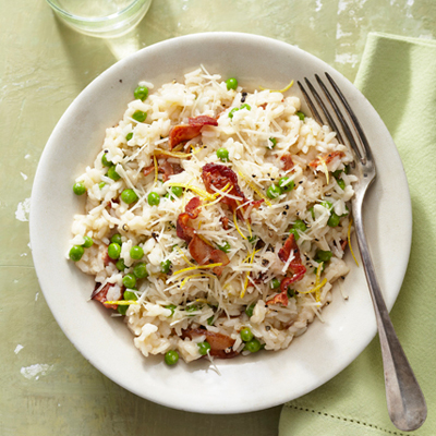 Easy Bacon and Pea Risotto Recipe