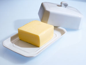 how to clean margarine stains