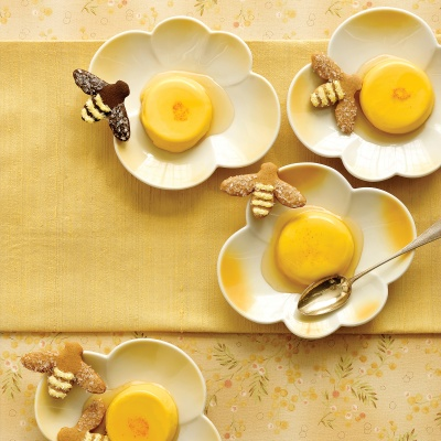 Honey-Saffron Panna Cottas Recipe