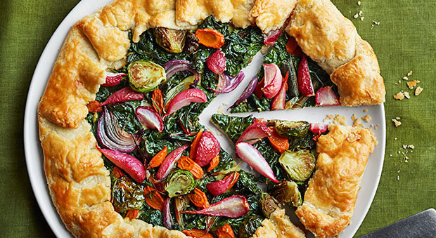 Winter veggie tarts recipe for Easy cold side dishes for christmas