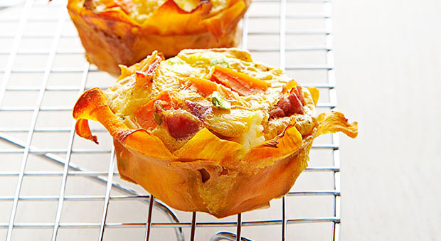 Spicy Sweet Potato Quiche Cups Recipe