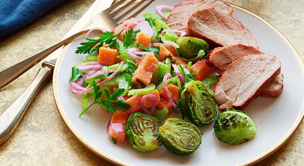 Bbq Pork With Sweet Potato Salad