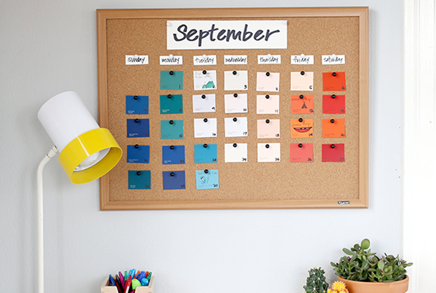 Diy Kitchen Calendar : Calendars to buy or diy for wall