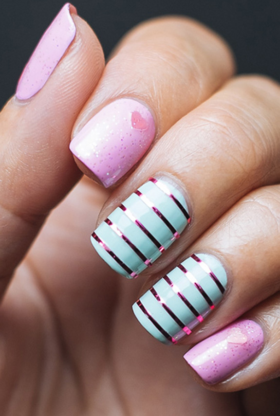 25 best valentines day nails hot nail art design ideas for valentines day - Valentines Nail
