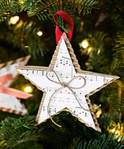 Simple Christmas Home Decorations: Homemade Christmas Star Ornament
