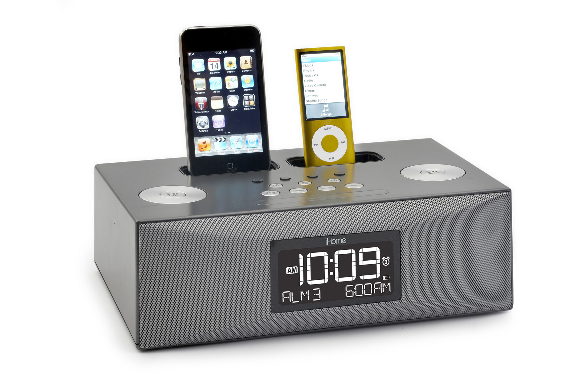 ihome dual dock ipod alarm clock radio review. Black Bedroom Furniture Sets. Home Design Ideas