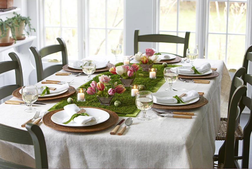 Easter dining table settings lovely table decorating for Easter dinner table setting ideas