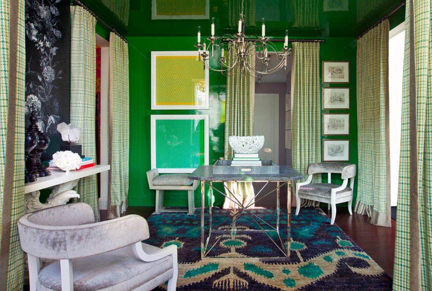 emerald green room - Home Decor Trends