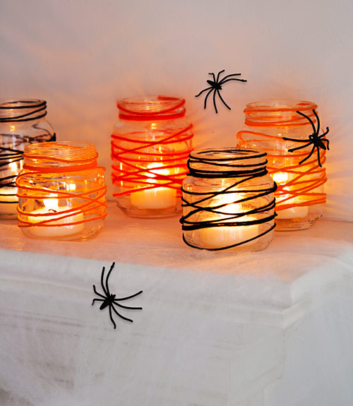diy halloween candleholder - Halloween Party Supplies