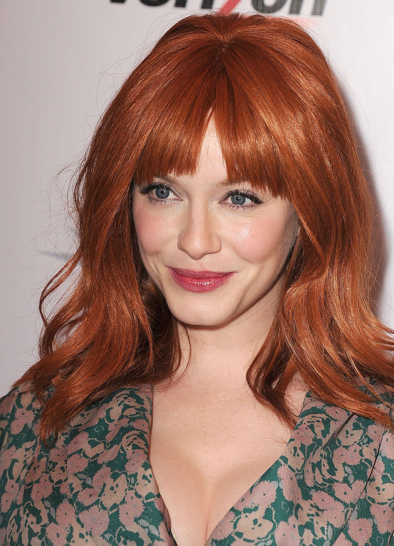 Redhead bangs