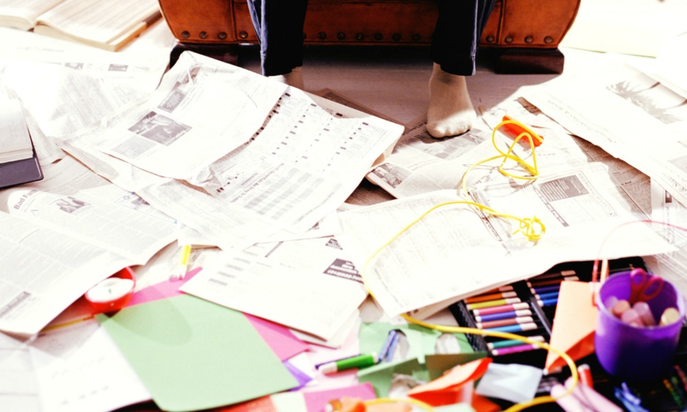 how to get rid of paper that was wahed