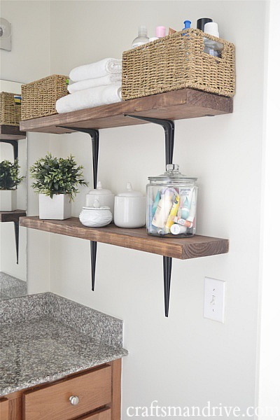 15 small bathroom storage ideas wall storage solutions and shelves for bathrooms for Bathroom shelving ideas for small spaces