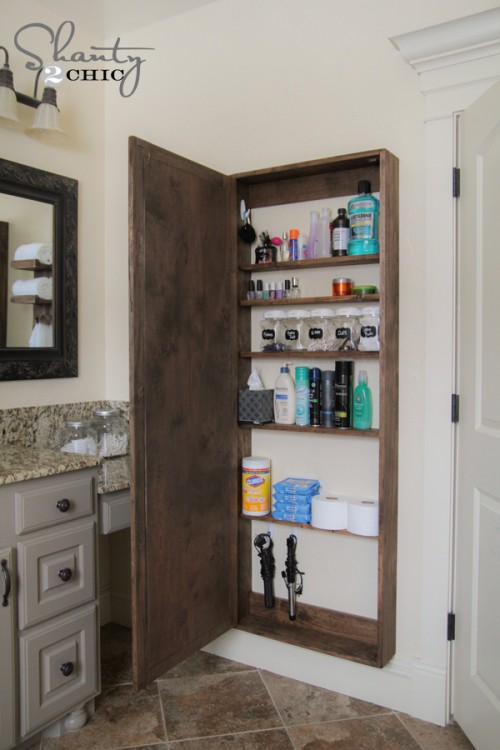 12 Small Bathroom Storage Ideas - Wall Storage Solutons and Shelves for  Bathrooms