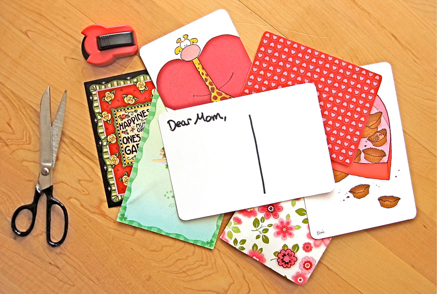 greeting card crafts  how to use old cards, Greeting card