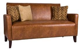 made from renu leather this sofa from overstock is durable stylish check out those nailheads and so affordable in addition to the low price - Best Affordable Sofa