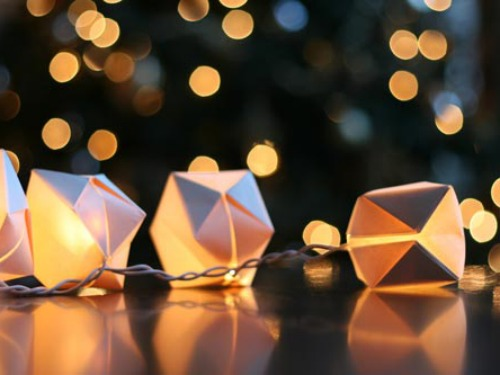 diy outdoor party lighting. origami string lights diy outdoor party lighting y