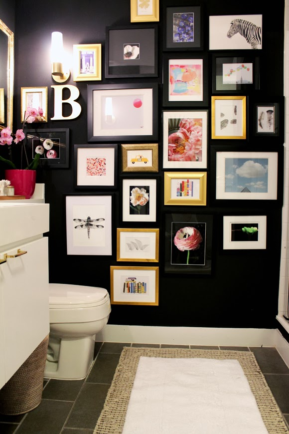 Black Wall Decor black walls - home paint ideas