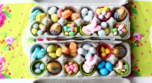 23 easter gift ideas for kids best easter baskets and fillers egg carton easter basket negle Image collections