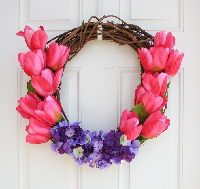 Awesome Spring Door Wreath Ideas Part - 11: Bright Beauties